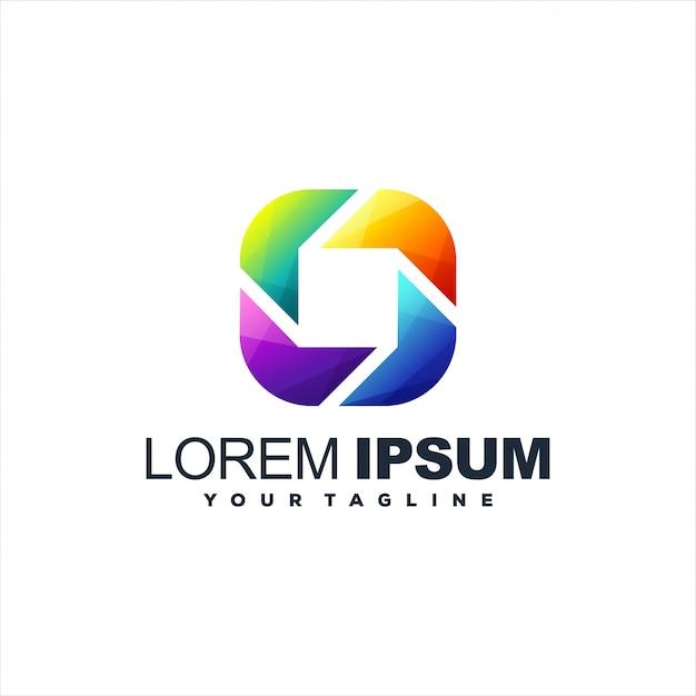 Fantastischer abstrakter logoentwurf der steigung Premium Vektoren