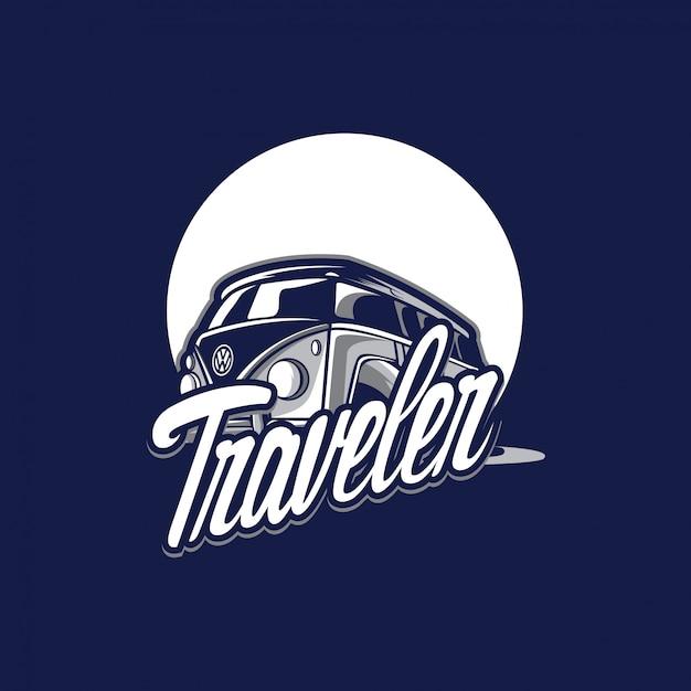 Fantastisches reisendlogo Premium Vektoren