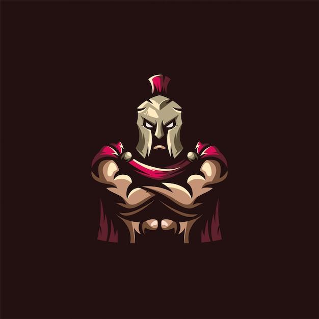 Fantastisches spartanisches logo Premium Vektoren
