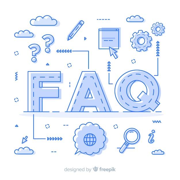Faq-konzept Kostenlosen Vektoren