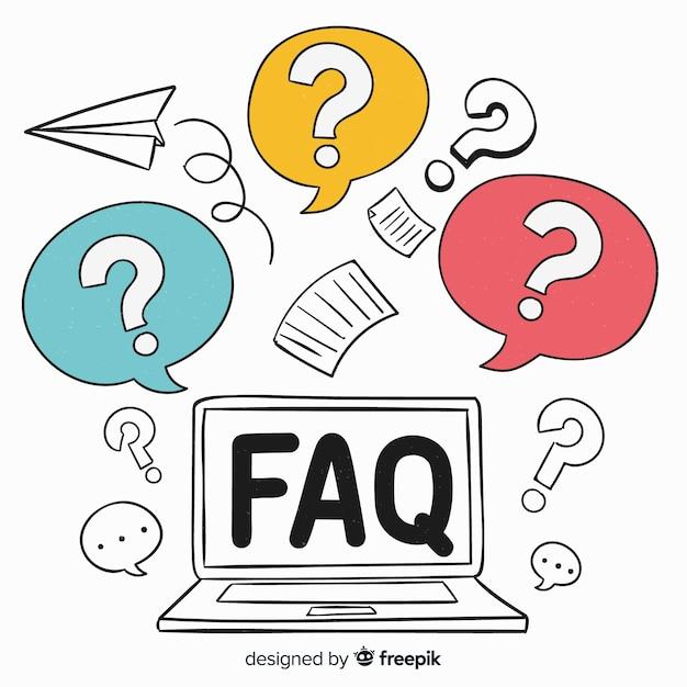 Faq-konzept Premium Vektoren