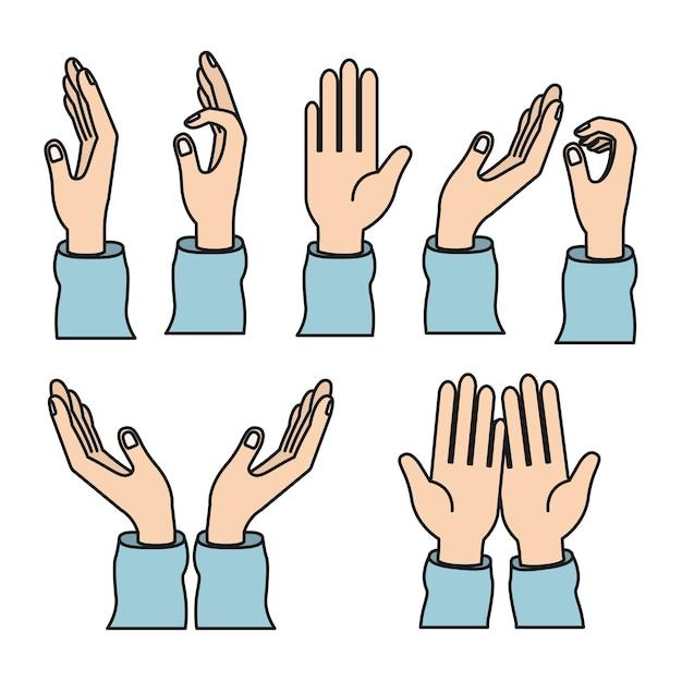 Farbbild gesetzt Hände Nächstenliebe teilen Liebe Symbole | Download ...