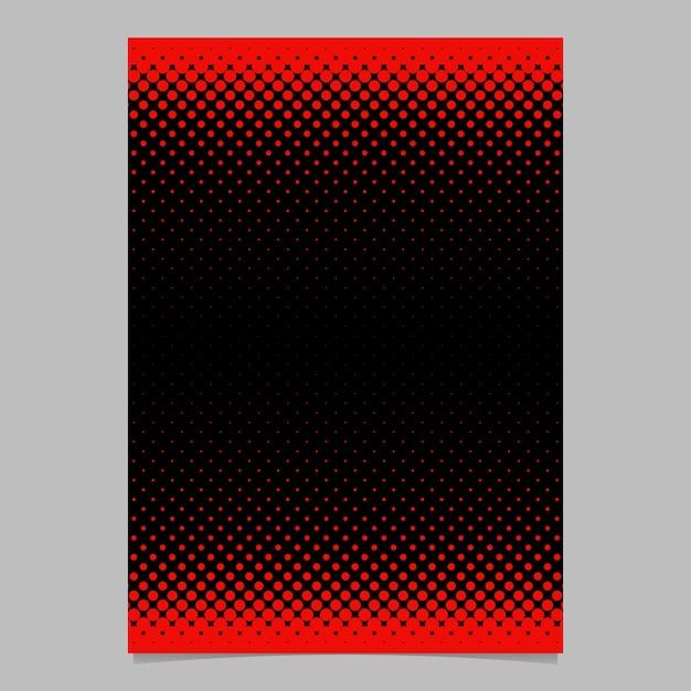 Farbe abstrakt Halftone Kreis Muster Karte Vorlage - Vektor ...