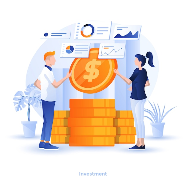 Farbe moderne illustration - investition Premium Vektoren