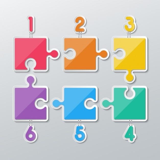 Farbe Puzzleteil Kostenlose Vektoren