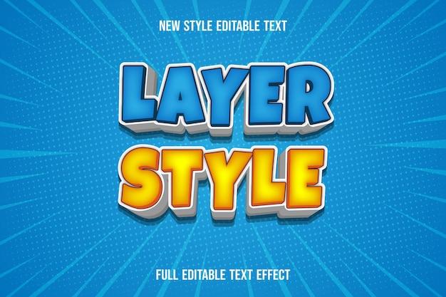 Farbeffekt-ebenenstilfarbe blau und gelb weißer farbverlauf Premium Vektoren