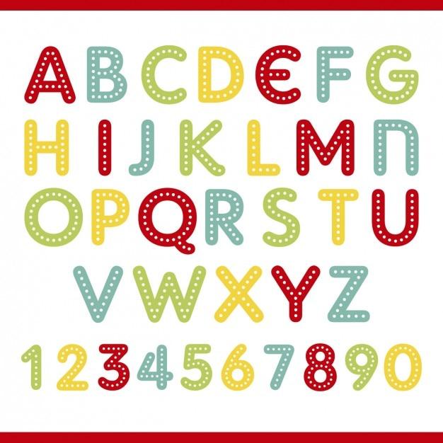 Farben Alphabet | Download der kostenlosen Vektor