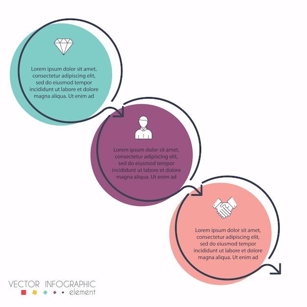Farbenfrohe infografiken für ihre geschäftspräsentationen. kann für website-layout, nummerierte banner, diagramme, horizontale ausschnittlinien, web verwendet werden. Premium Vektoren
