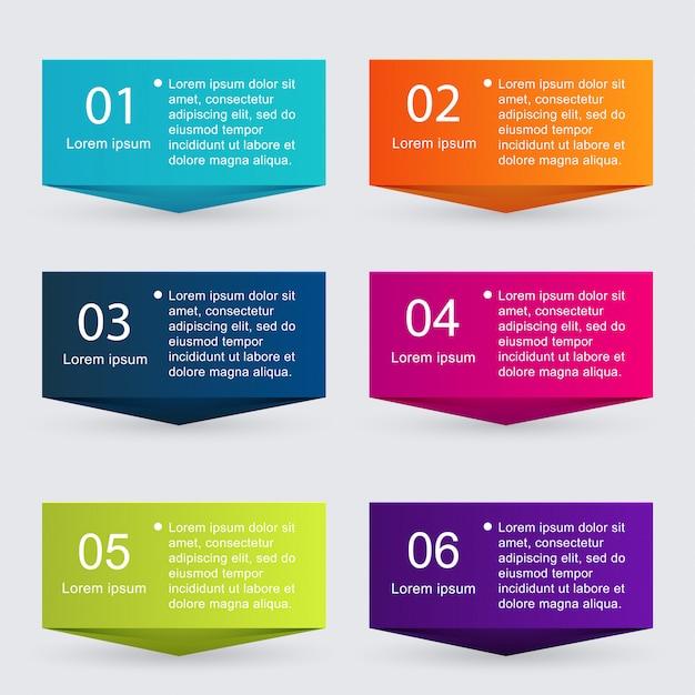 Farbenfrohe infografiken für ihre geschäftspräsentationen. Premium Vektoren