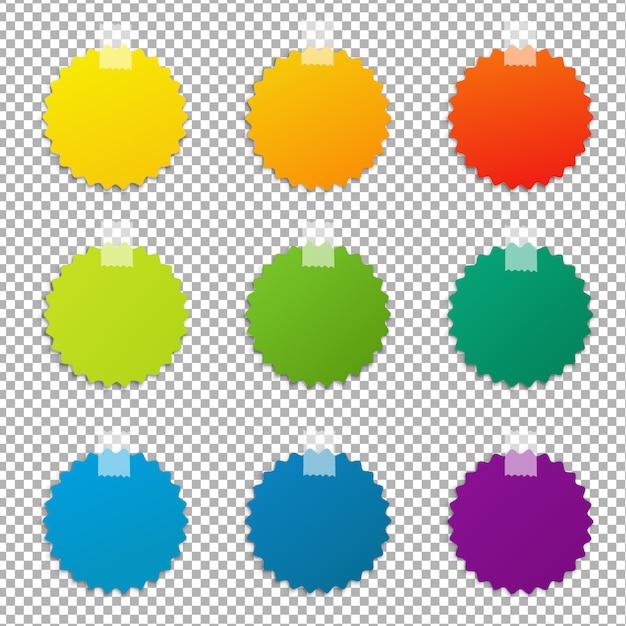 Farbetiketten set Premium Vektoren