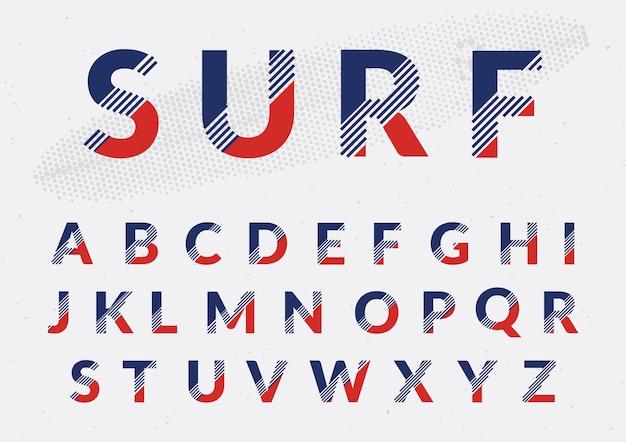 Farbige alphabet design Kostenlosen Vektoren