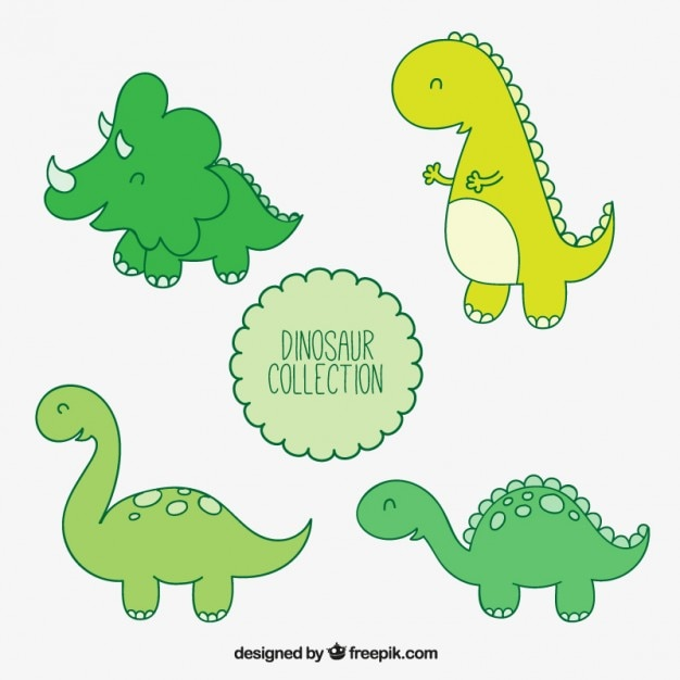 Farbige dinosaurier illustrationen Kostenlosen Vektoren