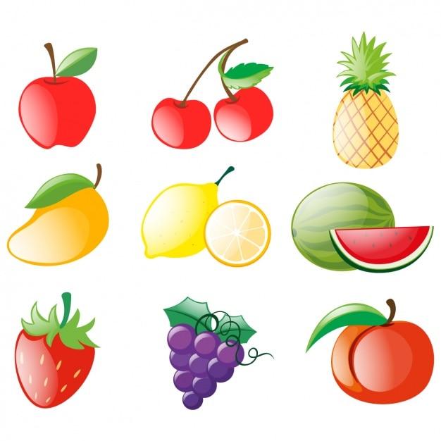 Farbige Früchte Design | Download der kostenlosen Vektor