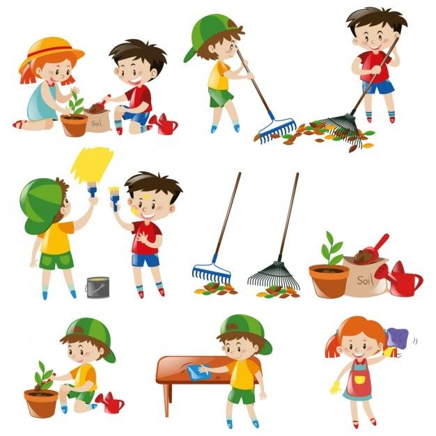 Farbige Kinder-Kollektion | Download der kostenlosen Vektor
