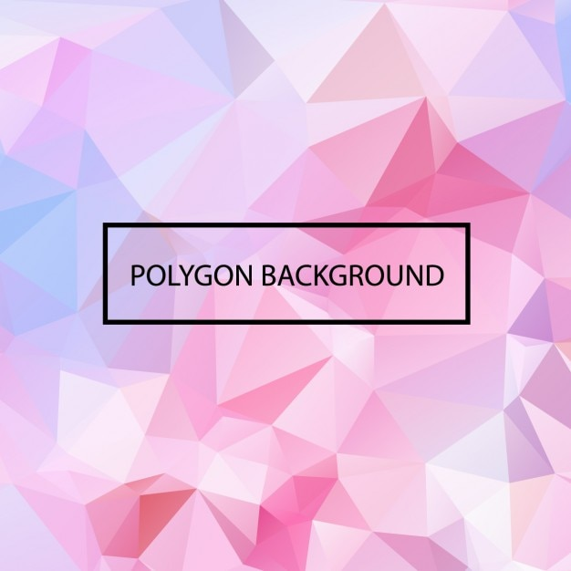 Farbige polygonal hintergrund-design Kostenlosen Vektoren