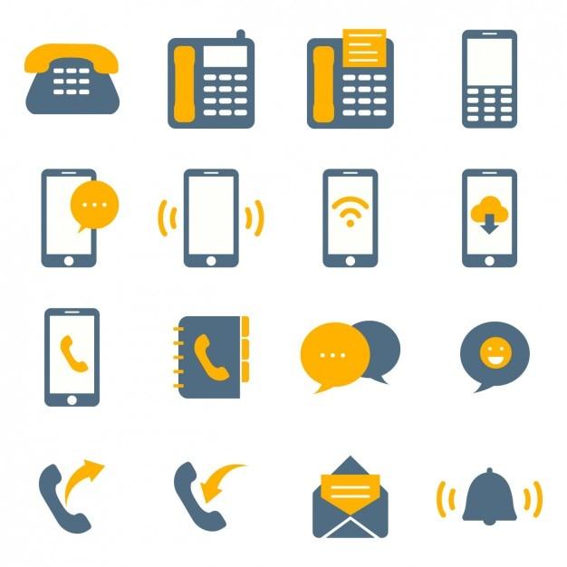 Farbige Symbole Konnektivität Kostenlose Vektoren
