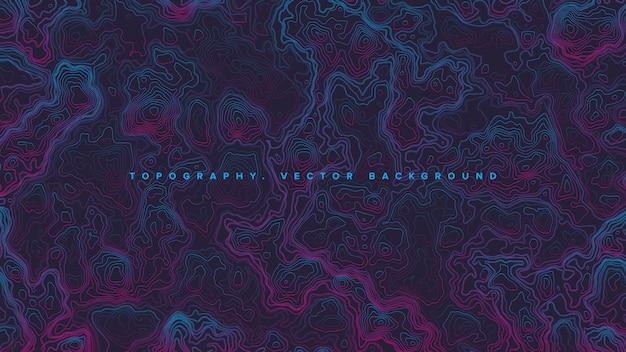 Farbige topografische konturkarte retrowave abstrakter hintergrund Premium Vektoren