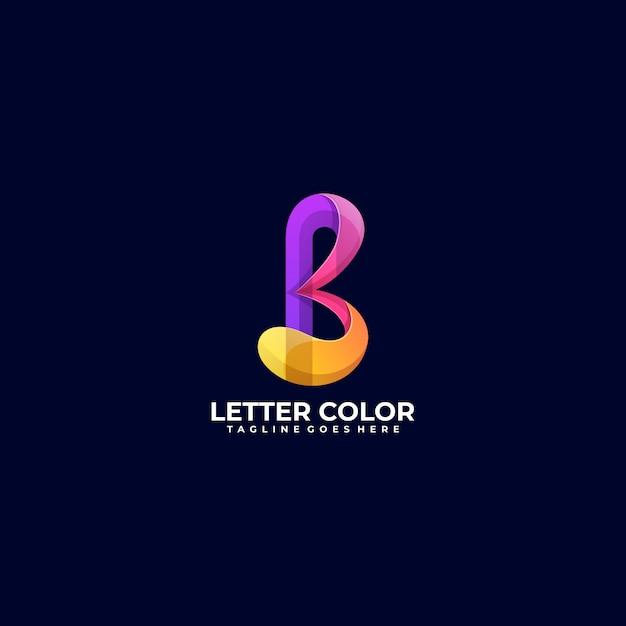 Farbiger stil des abstrakten buchstabengradienten der logo-illustration. Premium Vektoren