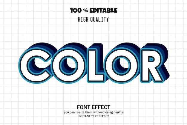 Farbiger text, bearbeitbarer schrifteffekt Premium Vektoren