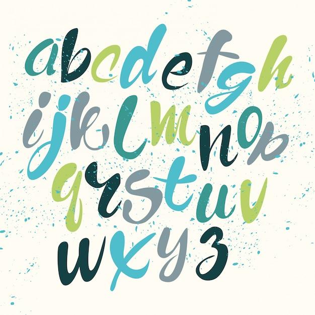 Farbiges alphabet Kostenlosen Vektoren