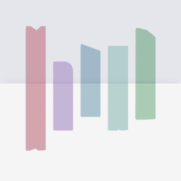 Farbiges klebeband klebeband klebeband Premium Vektoren