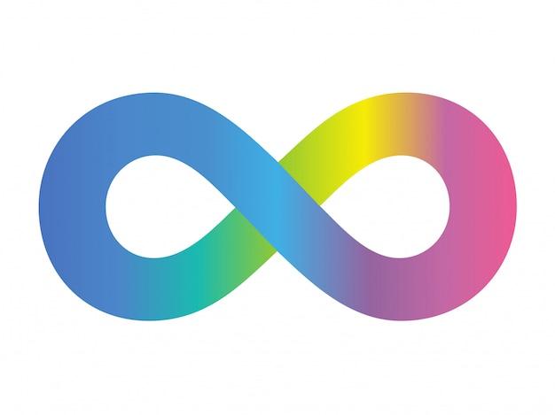 Farbvektor-symbol unlimitiert Premium Vektoren