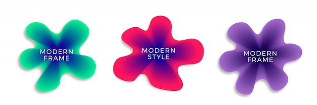 Farbverlauf abstrakte banner set Kostenlosen Vektoren