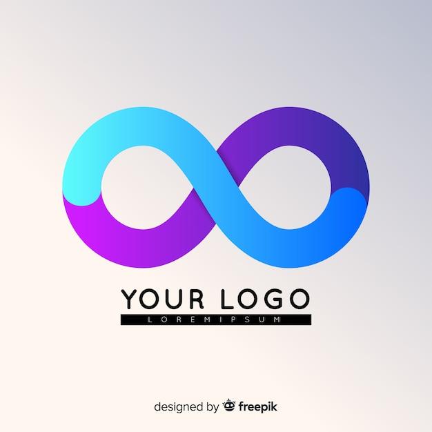 Farbverlauf abstrakte logo Kostenlosen Vektoren