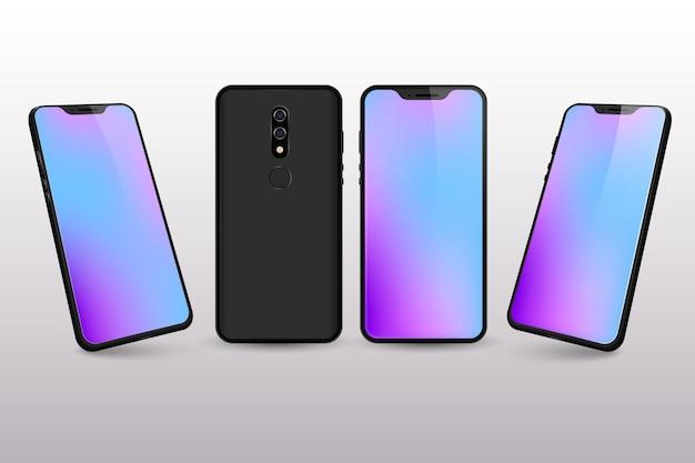 Farbverlauf des desktops von smartphone Kostenlosen Vektoren