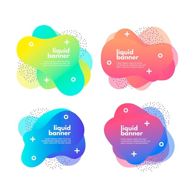 Farbverlauf flüssige banner-sammlung Kostenlosen Vektoren