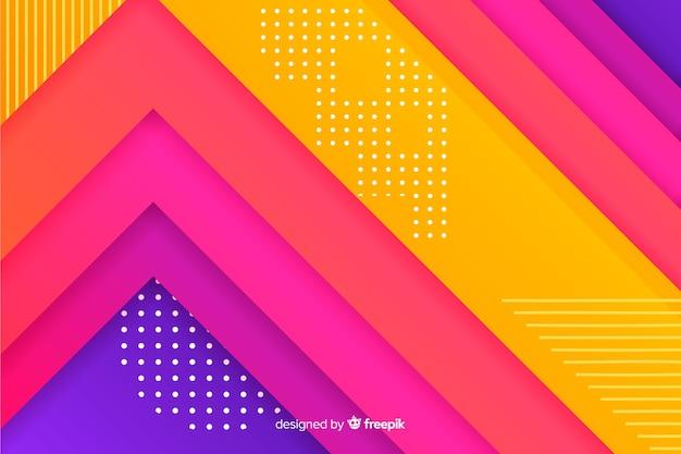 Farbverlauf geometrische formen hintergrund Kostenlosen Vektoren