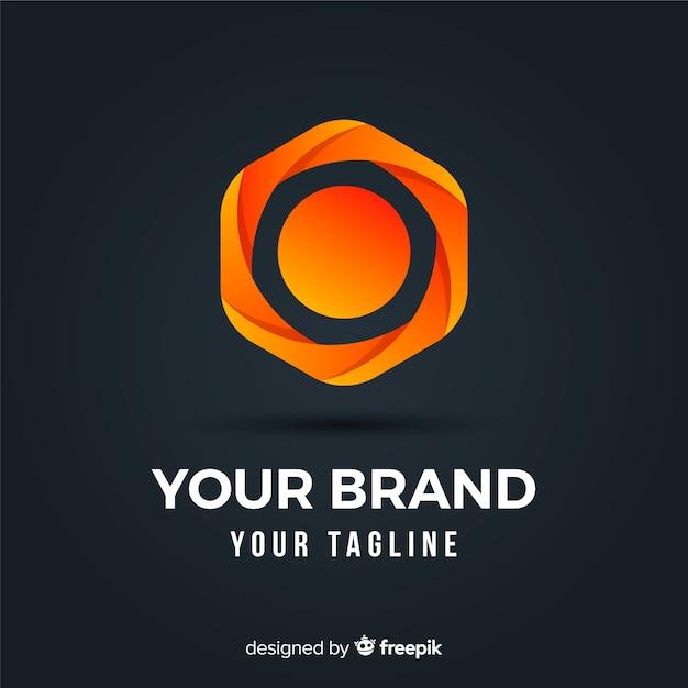Farbverlauf logo mit abstrakten form Kostenlosen Vektoren