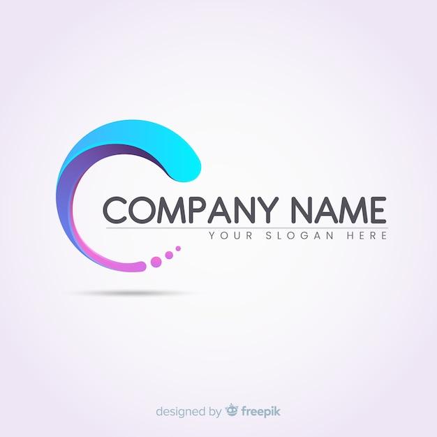 Farbverlauf logo vorlage mit abstrakten form Kostenlosen Vektoren