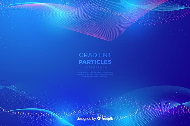 Farbverlauf partikel hintergrund Kostenlosen Vektoren