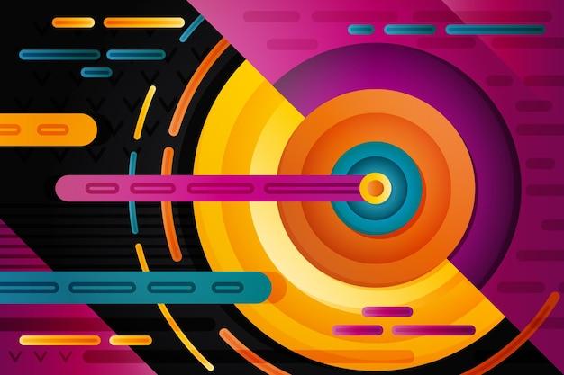Farbverlauf tapete mit geometrischen formen Kostenlosen Vektoren