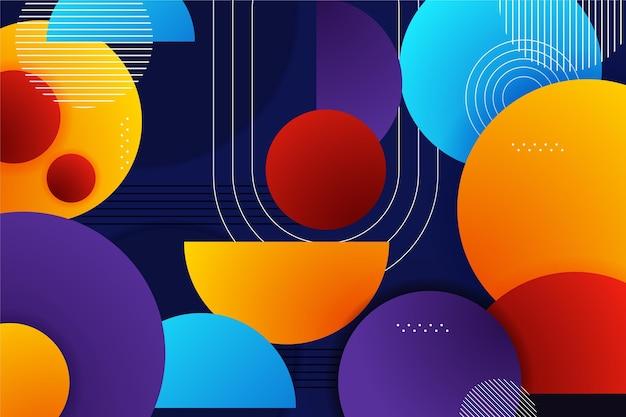 Farbverlaufshintergrund mit verschiedenen bunten formen Kostenlosen Vektoren