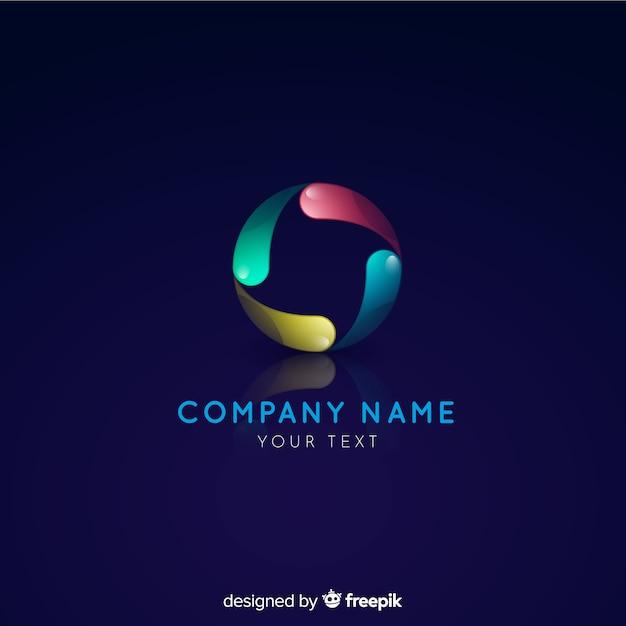 Farbverlaufstechnologie logo vorlage für unternehmen Kostenlosen Vektoren