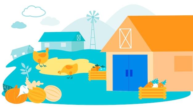 Farmyard livestock. auf dem bauernhof weiden lassen. farm business. Premium Vektoren