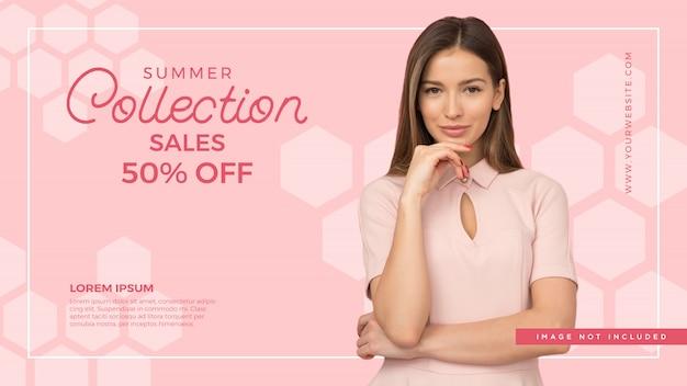 Fashion sale banner hintergrund Premium Vektoren