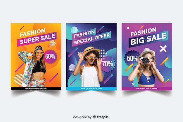 Fashion sale banner sammlung Kostenlosen Vektoren