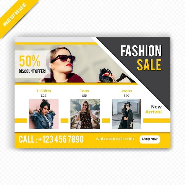 Fashion sale horizontale flyer vorlage Premium Vektoren