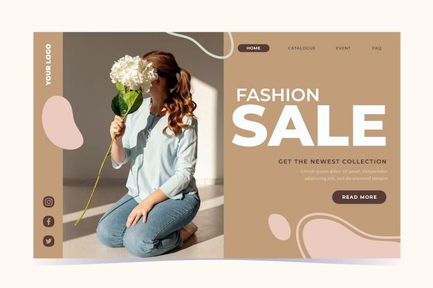 Fashion sale landing page vorlage Kostenlosen Vektoren