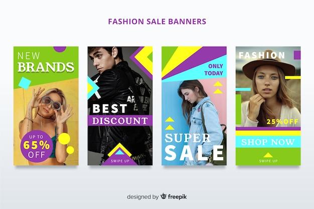 Fashion sales banner Kostenlosen Vektoren