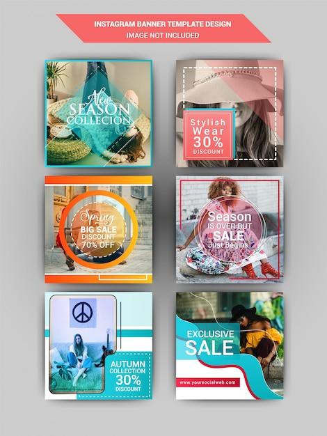 Fashion social media post Premium Vektoren