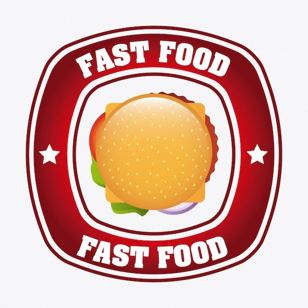 Fast-food-design Kostenlosen Vektoren