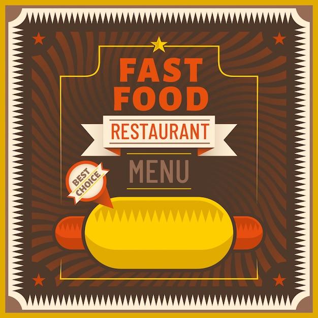 Fast-food-hintergrund Premium Vektoren