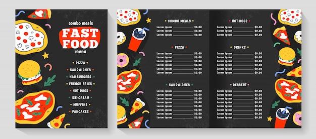 Fast-food-menüvorlage Premium Vektoren