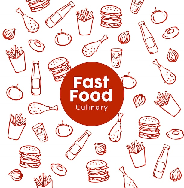Fast-food-muster Premium Vektoren