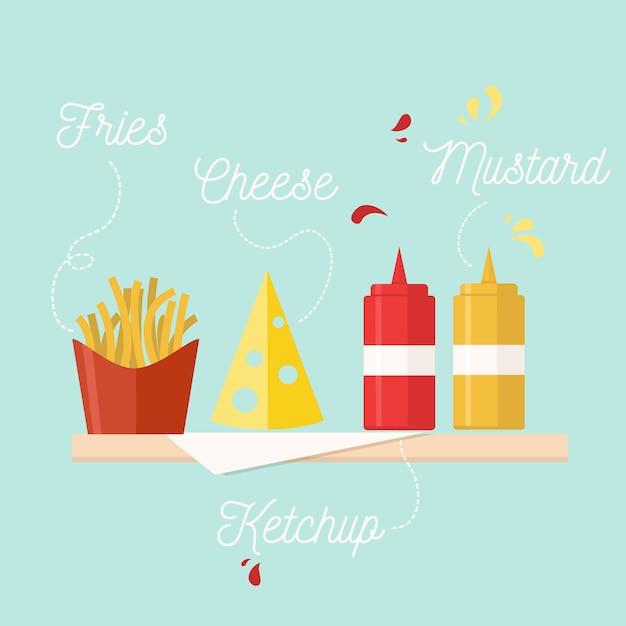 Fast food Kostenlosen Vektoren