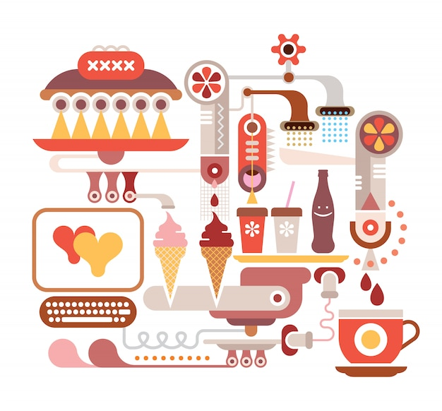 Fastfood-restaurant Premium Vektoren